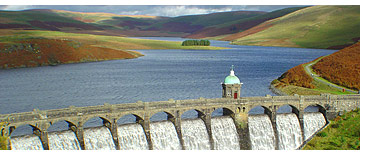 Dams and Reservoirs of the Elan Valley estate in mid Wales.