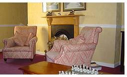 Relax in our sitting room at Brynhir Farm and enjoy the warm Welsh welcome.